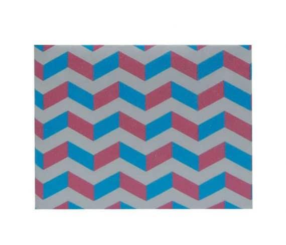 dobra - zig zag azul e rosa