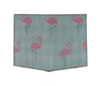 dobra passaporte - flamingos geométricos