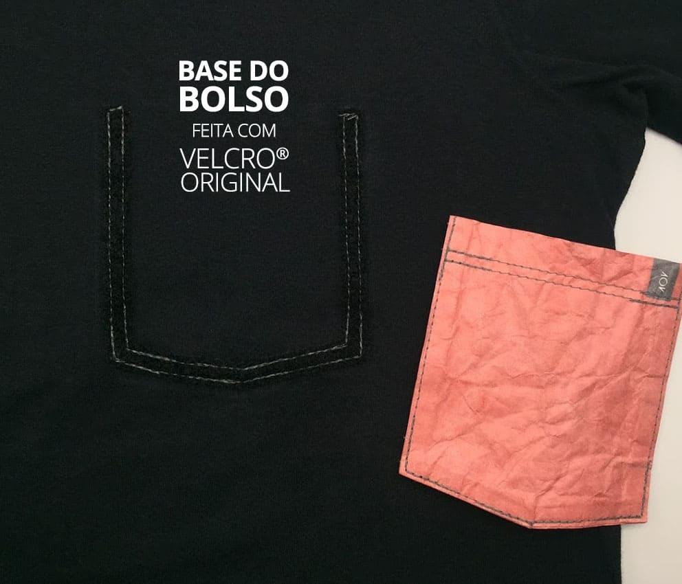 base do bolso em velcro original
