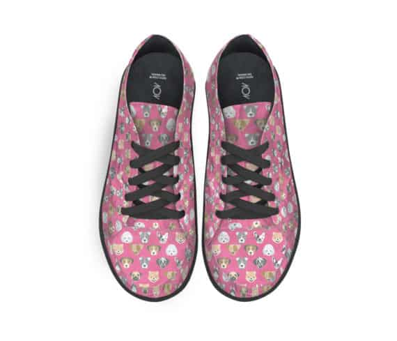 dobra tênis cachorrinhos rosa