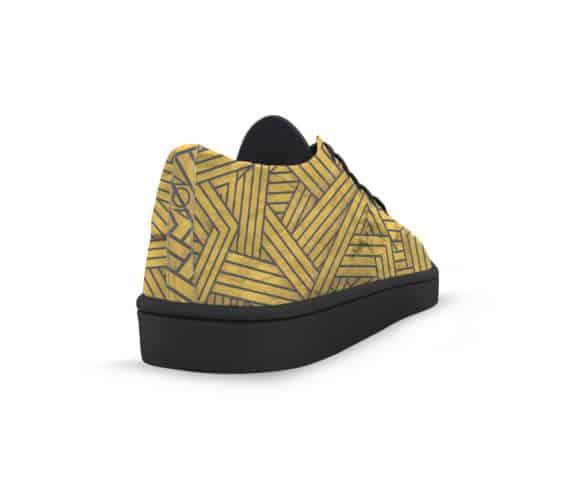 dobra tênis linhas amarelas