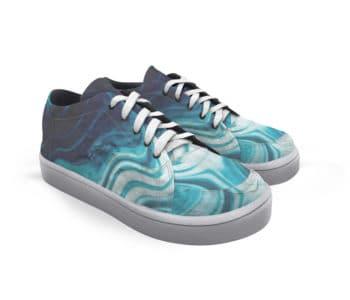 dobra tênis marmore azul