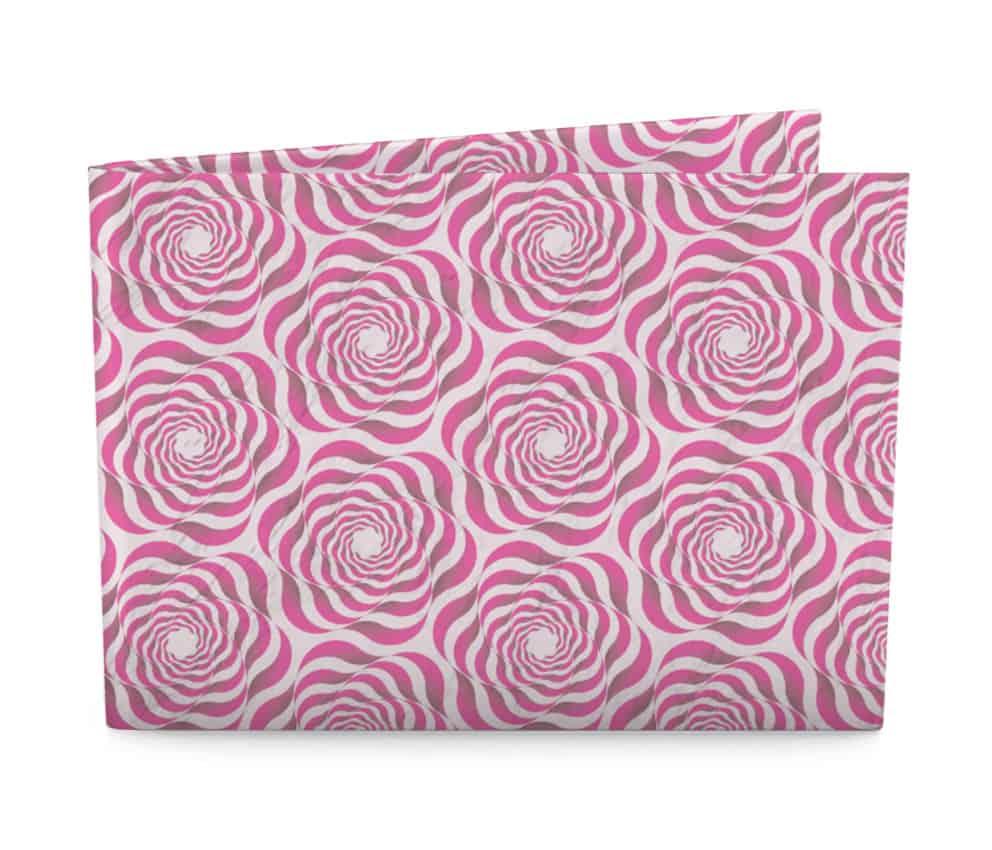 dobra flores geometricas rosa