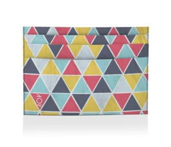 dobra porta cartao azulejos triangulos coloridos