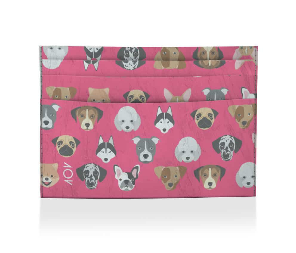 dobra porta cartao cachorrinho rosa