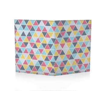 dobra passaporte azulejos triangulares coloridos