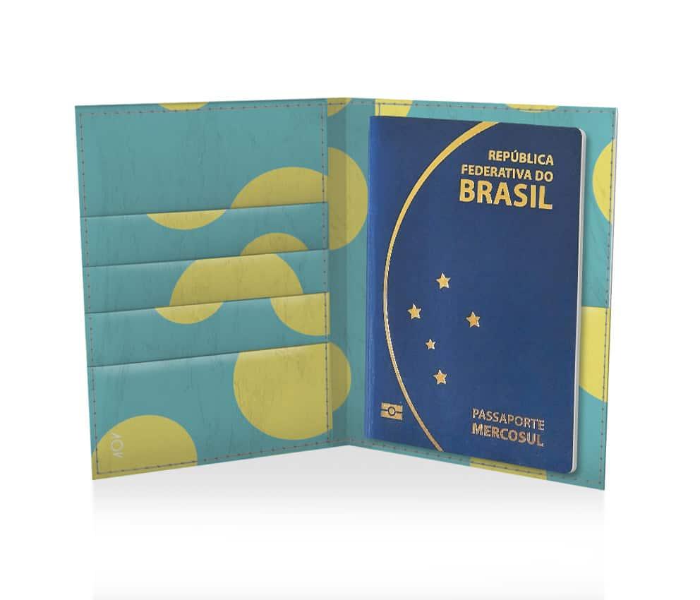 dobra passaporte bolinhas