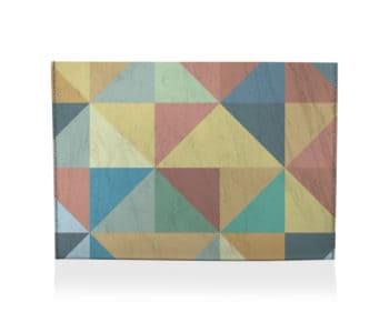 dobra porta cartão triângulos coloridos