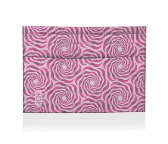 dobra porta cartao flores geometricas rosa