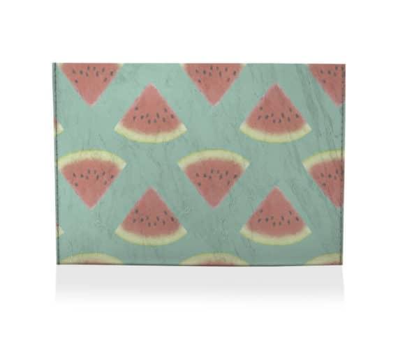 dobra porta cartao melancia verde