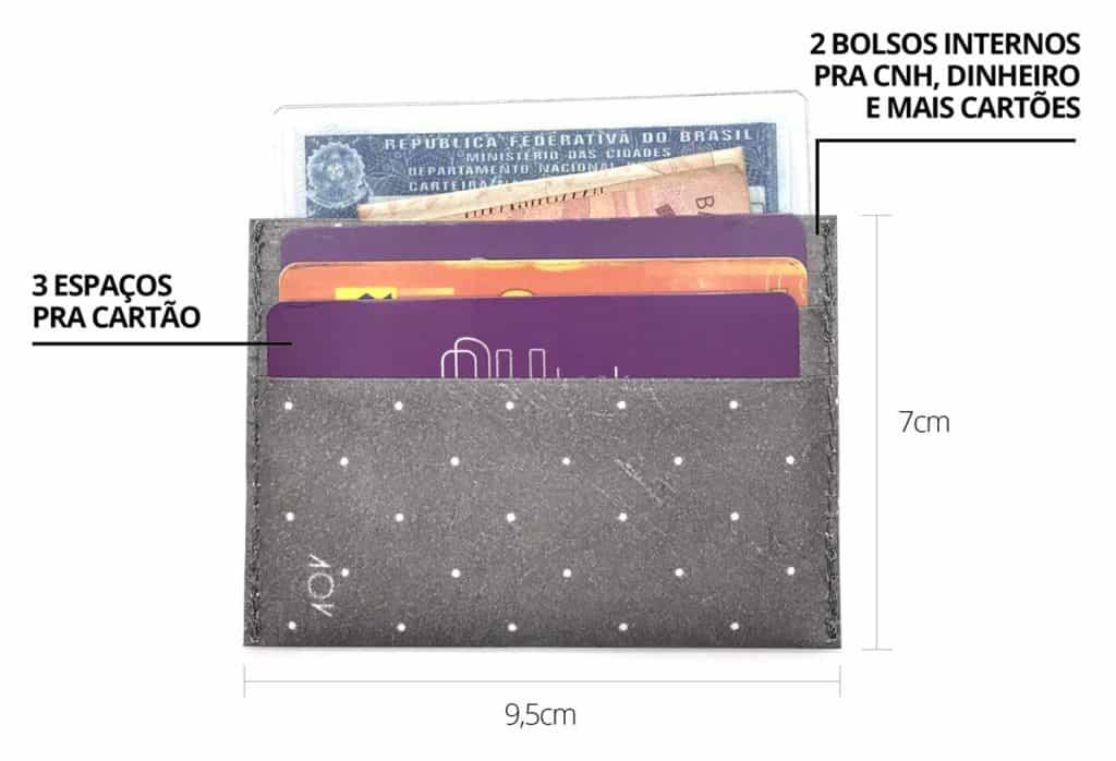 porta cartão dobra - espaços e medidas