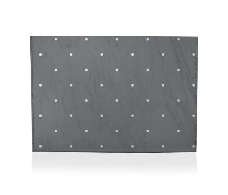 dobra porta cartao preta cinza de bolinha