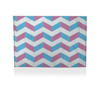 dobra porta cartao zig zag azul e rosa
