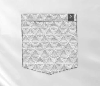 dobra bolso textura triangular