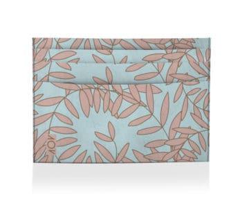 dobra porta cartao floral rosa