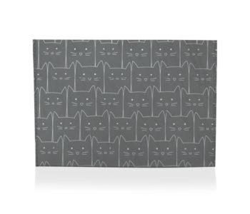 dobra porta cartao gatinhos preto e branco