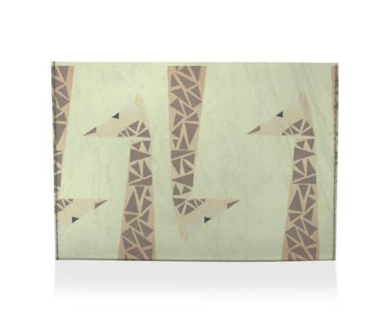dobra porta cartão girafinhas
