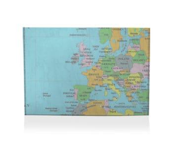 dobra porta cartão mapa mundi
