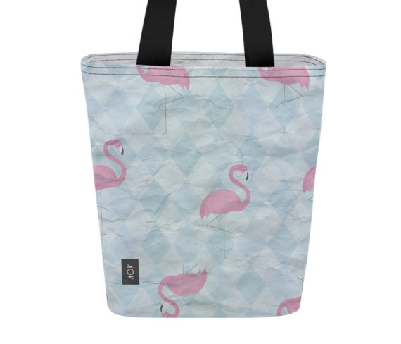 dobra bag flamingos geométricos
