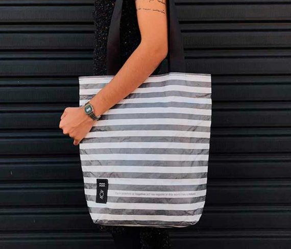 dobra bag return striped