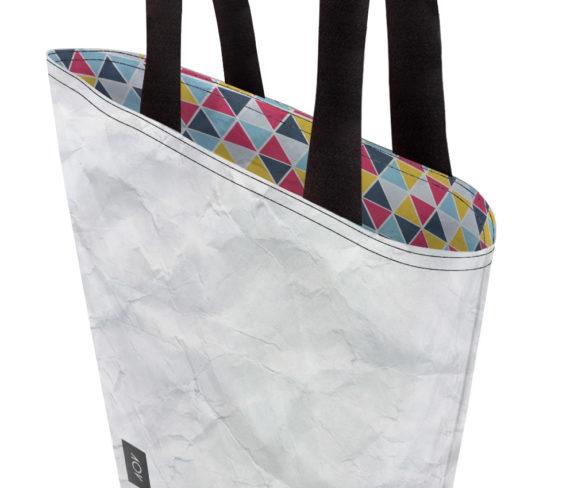 dobra bag azulejos triangulares coloridos