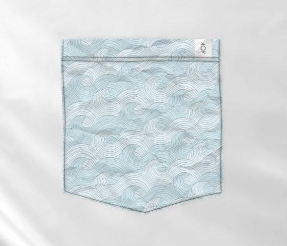 dobra bolso blue sea waves