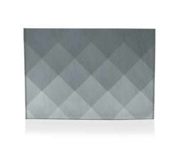 dobra porta cartao xadrez cinza degrade
