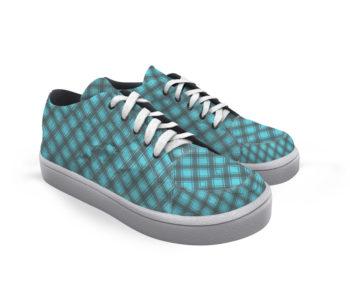 tênis dobra xadrezinho azul