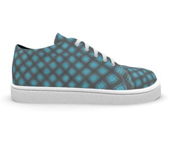 dobra tenis xadrezinho azul