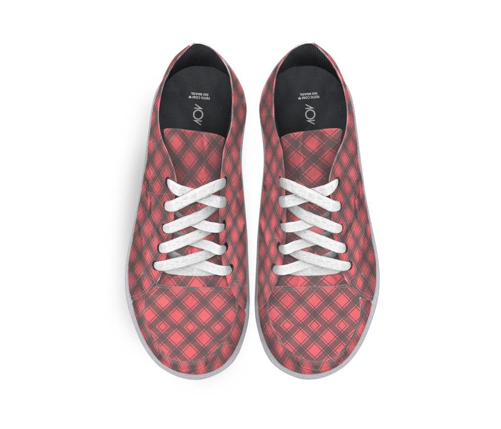 dobra tenis xadrezinho vermelho