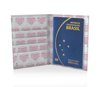 dobra porta passaporte barong pink