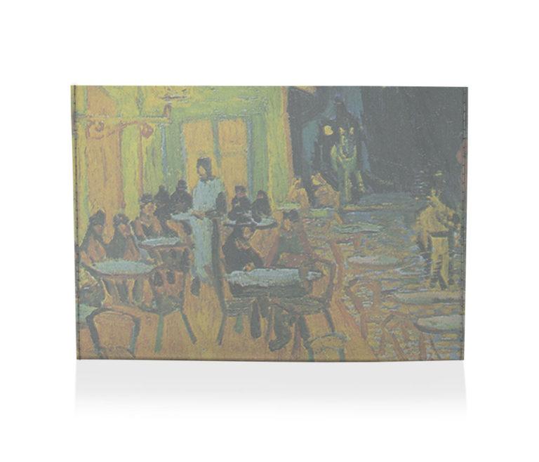 porta cartão terraço do café a noite