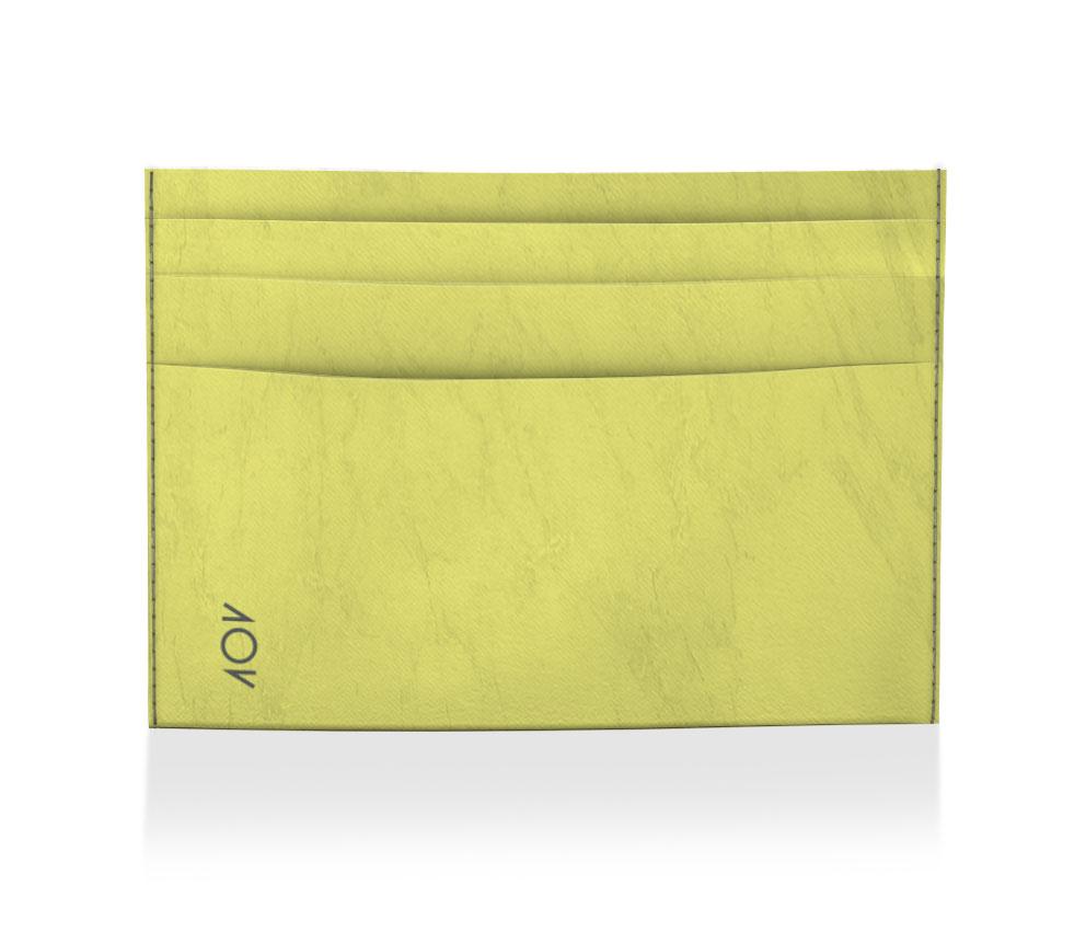 porta cartão lisa amarela