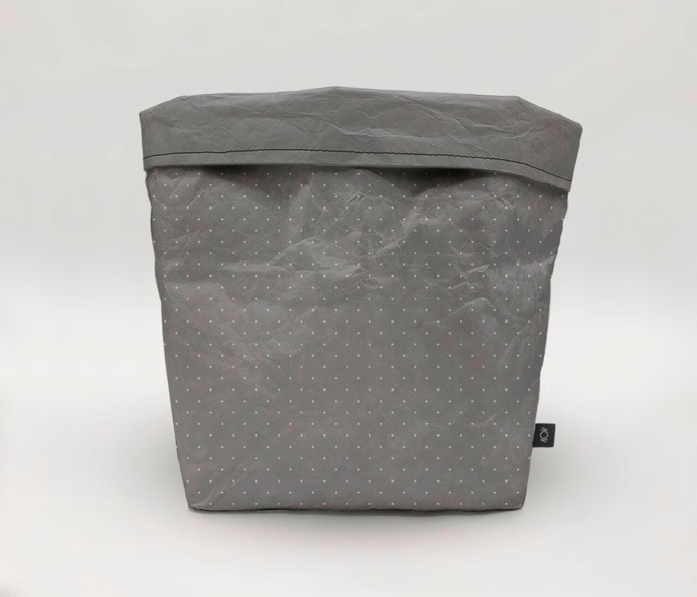 dobra cachepo preta cinza de bolinha