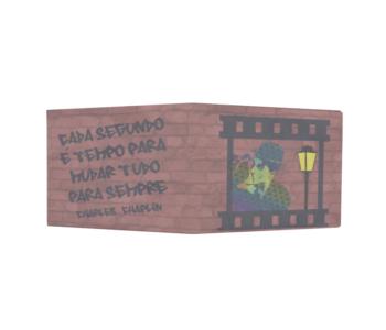 dobra - Nova Carteira Clássica - Arte Urbana - Chaplin