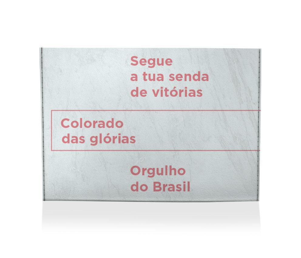 dobra porta cartao orgulho do brasil branca
