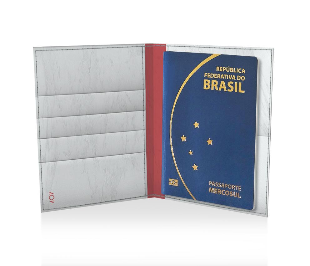 dobra porta passaporte orgulho do brasil branca