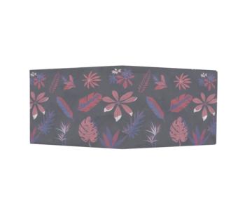 dobra - Nova Carteira Clássica - Flora azul&rosa