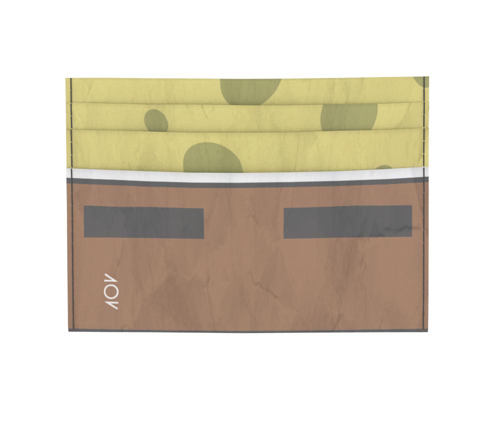 dobra - Porta Cartão - calça quadrada