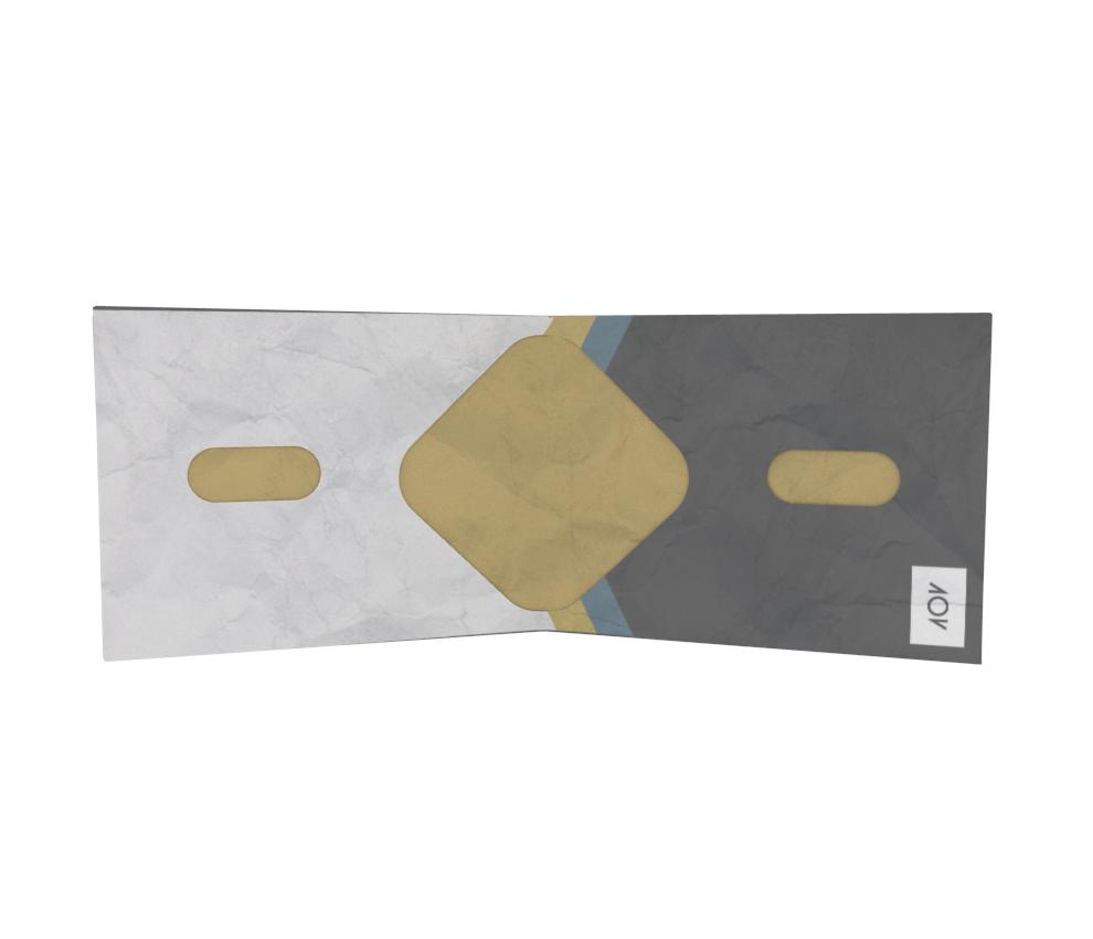 dobra - Nova Carteira Clássica - geométrico triangular