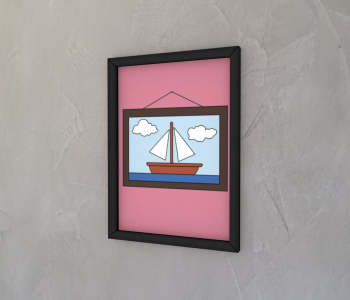 dobra - Quadro - barco de papel