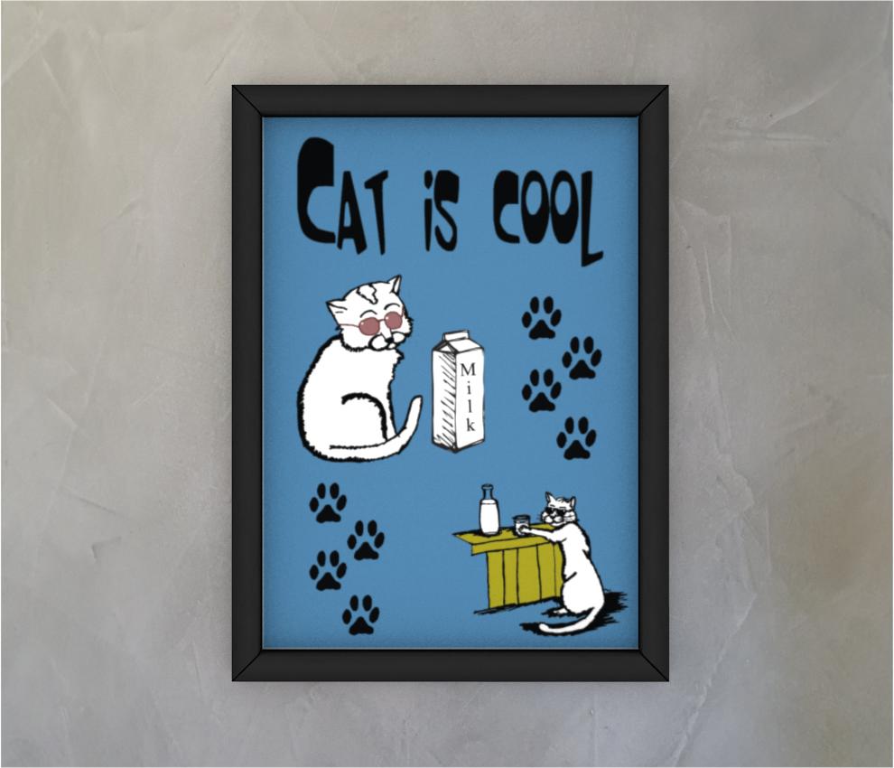 dobra - Quadro - Cat is cool