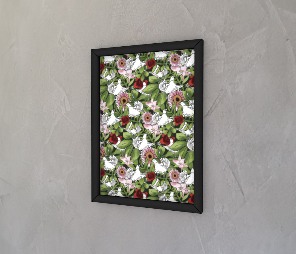 dobra - Quadro - flowers and birds