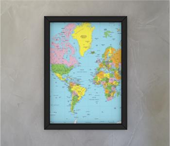 dobra - Quadro - mapa mundi