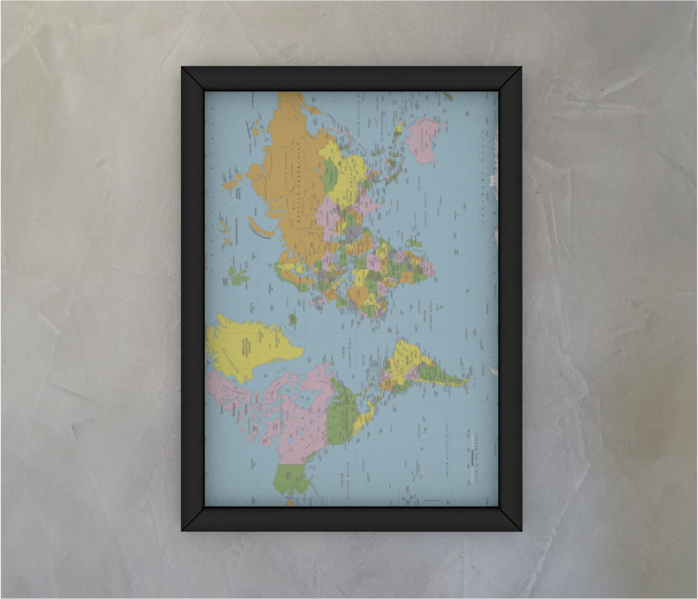 dobra quadro mapa mundi