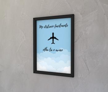 dobra - Quadro - Olha lá o avião