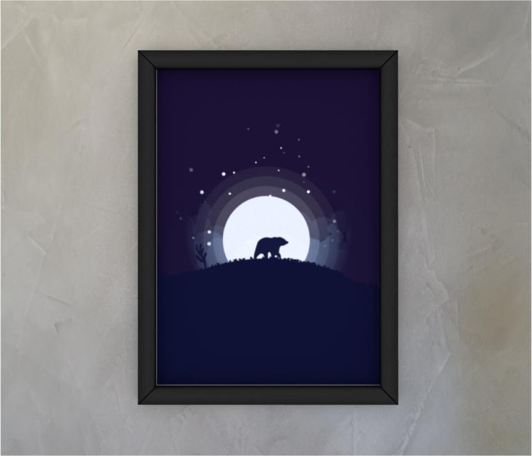 dobra - Quadro - the lonely bear