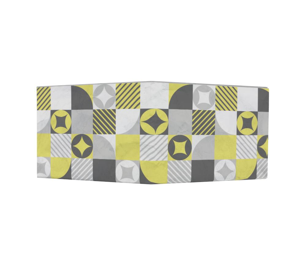 dobra - Nova Carteira Clássica - geométrica amarela
