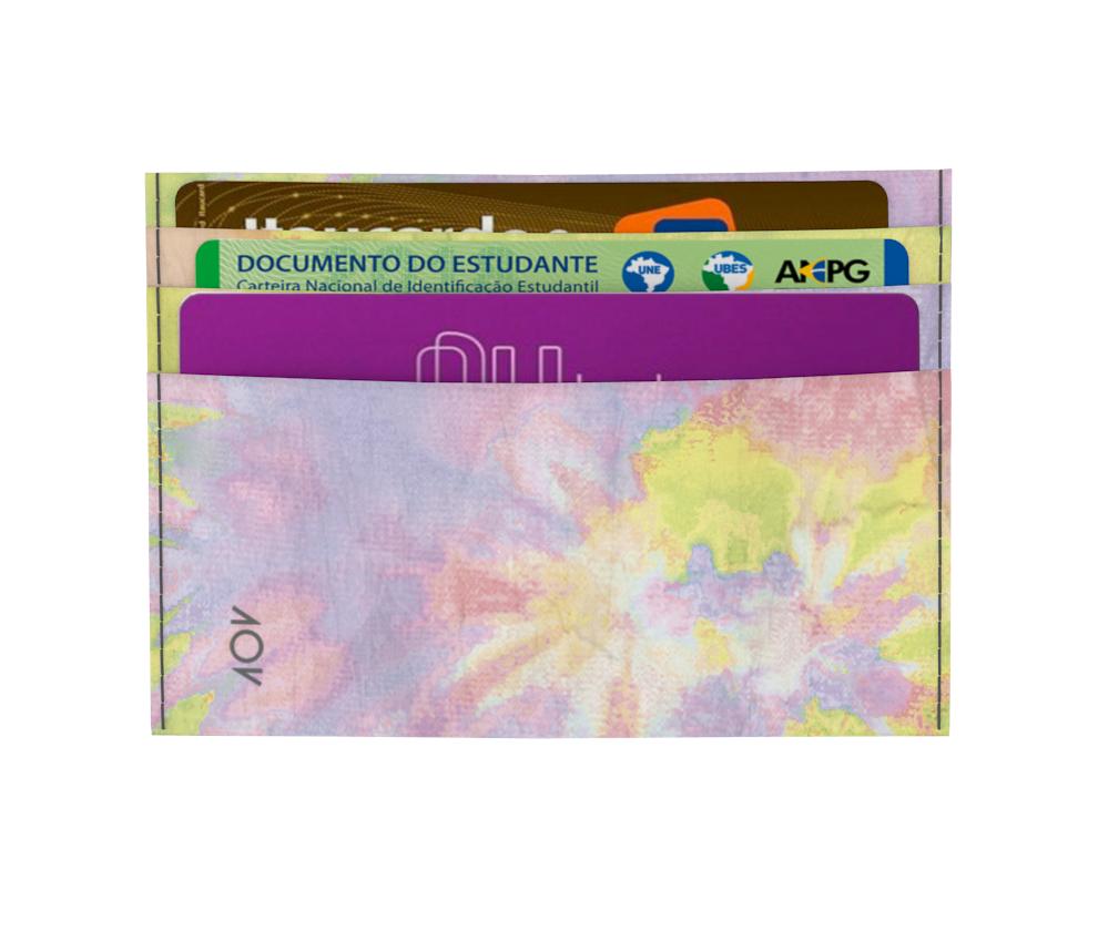 dobra - Porta Cartão - Tie Dye Pastel