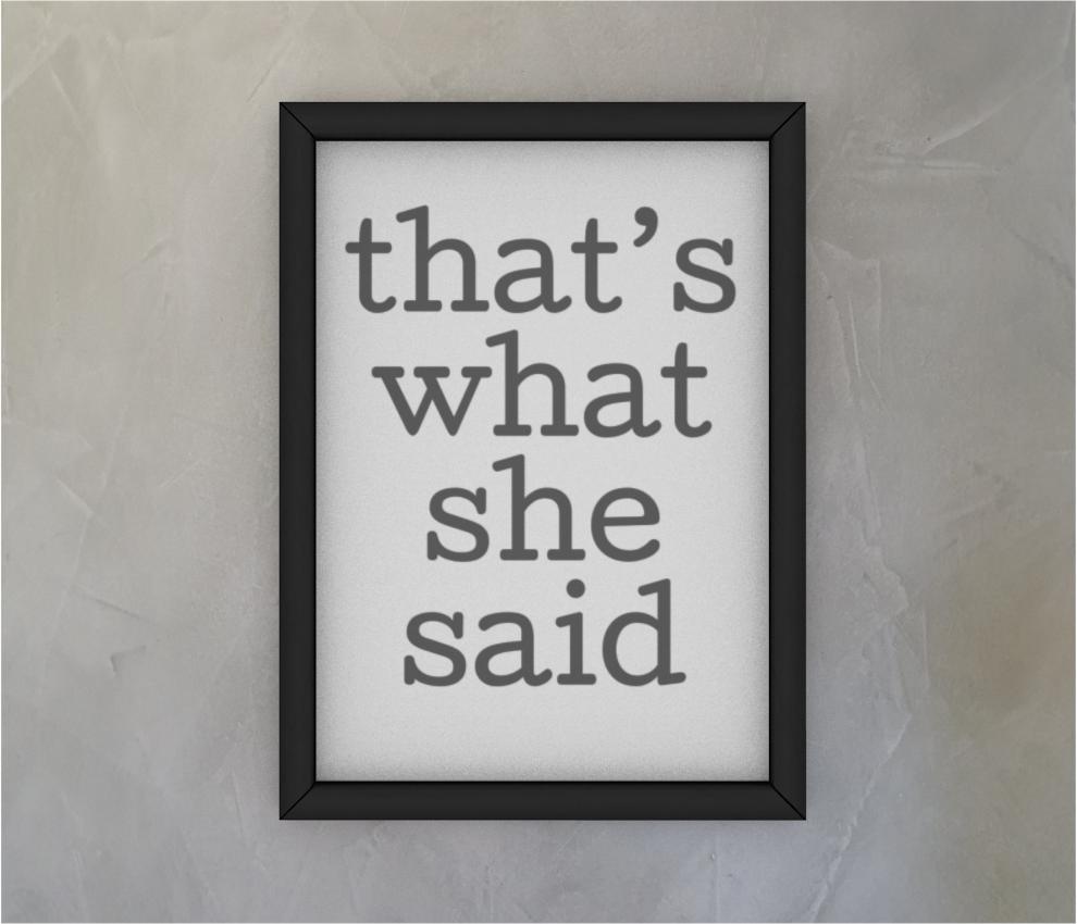 dobra - Quadro - The Office - That's what she said
